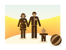 Basic family Stock Photos