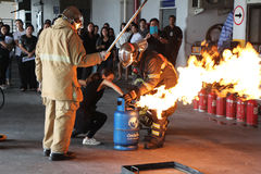 Basic Fire Fighting Training on October 21, 2016 in Bangkok, Thailand Stock Photography
