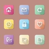 Basic Flat icon set Royalty Free Stock Photo