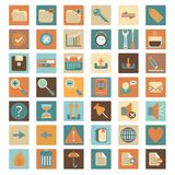 Basic flat web icon set Royalty Free Stock Photo