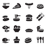 Basic Food and Drink icons set Stock Photo