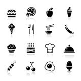 Basic - Food Icons Stock Photography