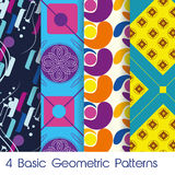 4 Basic Geometric Patterns Stock Image