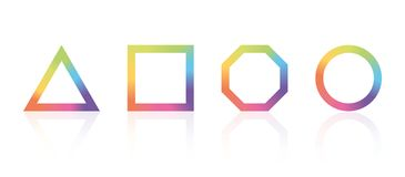 Basic geometric shape with color rainbow spectrum. Modern style Royalty Free Stock Image