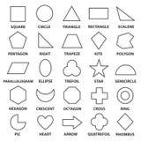 Basic geometric shapes Royalty Free Stock Photos