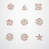 Basic Geometric Shapes Vector Icons. Basic Geometric Shapes Vector Icon Set Royalty Free Stock Photography