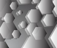 Basic grey pentagon background in harmony.  Royalty Free Stock Photography