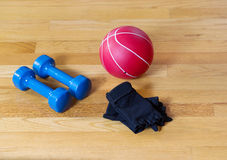 Basic Gym Workout Equipment Stock Image