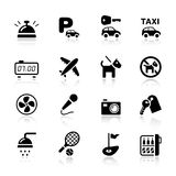 Basic - Hotel icons Stock Photography