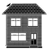 Basic house. Editable vector illustration of a basic house design Stock Photography