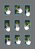 Basic human gestures using modern digital devices Royalty Free Stock Photos