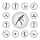 Basic icon for body exercise Stock Image