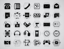 Basic icon set Stock Images