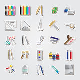 Basic icon set Royalty Free Stock Photography