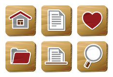 Basic icons | Cardboard series Royalty Free Stock Images