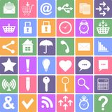 Basic icons set. Apps Smartphone sign icon. Vector Royalty Free Stock Photos