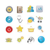 Basic icons Stock Photo
