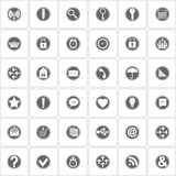 Basic icons set. Vector Illustration Royalty Free Stock Photos