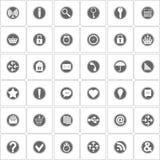 Basic icons set. Vector Illustration Royalty Free Stock Photos