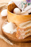 The basic ingredients for baking Stock Images