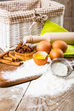 Basic ingredients for baking Stock Images