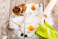 Basic ingredients for baking Stock Photo