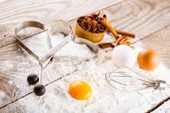 Basic ingredients for baking Stock Image
