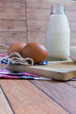 Milk, Flour, Egg for Bakery Royalty Free Stock Photography