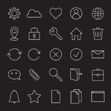 Basic interface line icons. Royalty Free Stock Photos