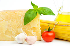 Basic italian food ingredients Royalty Free Stock Photo