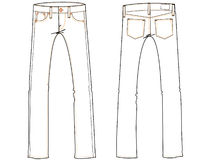 Basic jeans drawing illustrati Royalty Free Stock Photo