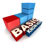Basic know how. Words with building blocks. technology and knowledge industry concept stock illustration