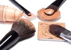 Basic makeup products to create beautiful skin tone Stock Photos
