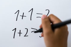 Basic math Royalty Free Stock Images
