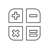 Basic math operations. Icon  illustration graphic design Royalty Free Stock Images
