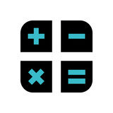 Basic math operations. Icon  illustration graphic design Royalty Free Stock Photos