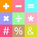 Basic Mathematical Sign Stock Photo