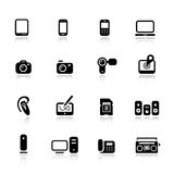 Basic - Media Icons Stock Image