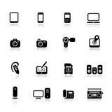 Basic - Media Icons. 16 media and technology icons set Stock Image