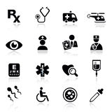 Basic - medical icons. 16 medical and healthcare icons set vector illustration