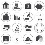 Basic Money Icons Vector Collection Stock Photography