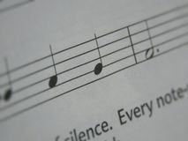 Basic musical notes with some text Stock Images