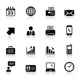 Basic - Office and Business icons. 16 office and business icons set royalty free illustration