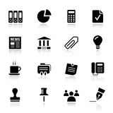 Basic -  Office and Business icons. 16 office and business icons set Stock Photos