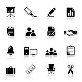 Basic -  Office and Business icons. 16 office and business icons set Royalty Free Stock Photos