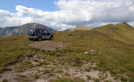 Basic Offroading: Mountains. Offroading in the Carpathian mountains, in Parang more precisely in an old  V6 powered engine. A joy! These are some of the most Royalty Free Stock Images