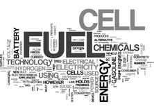 A Basic Overview Of Fuel Cell Technology Word Cloud Stock Photo