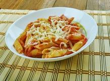 Basic Parmesan Pomodoro. Best Pasta  penne close up Stock Image