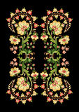The basic pattern. An embroidery design created in the old Turkish motifs Stock Photo