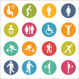 Basic Posture People Sitting Standing Icon Sign Symbol Pictogram Stock Photo